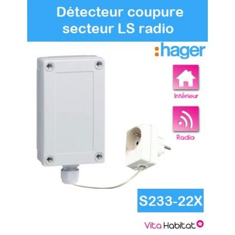 Détecteur de coupure secteur - Logisty Hager - S233-22X