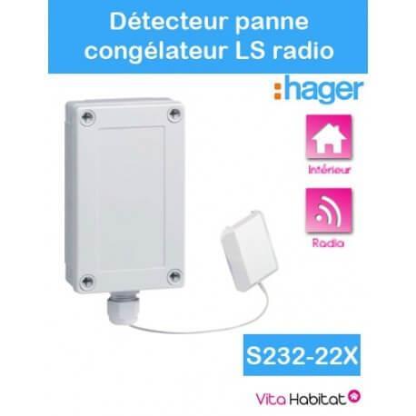 Détecteur de panne de congélateur - Logisty Hager - S232-22X