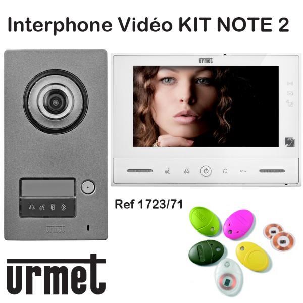 Interphone video URMET KIT NOTE 2 mains libre - Contrôle d\'accès ...