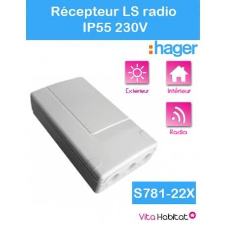 Récepteur radio IP55 - S781-22X - Logisty Hager - 230V