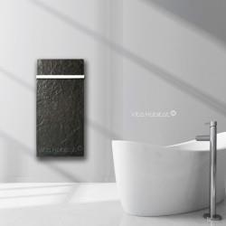 Sèche-serviette à inertie Wifi Ardoise Noire 1300W Vertical - Valderoma AN13BLW