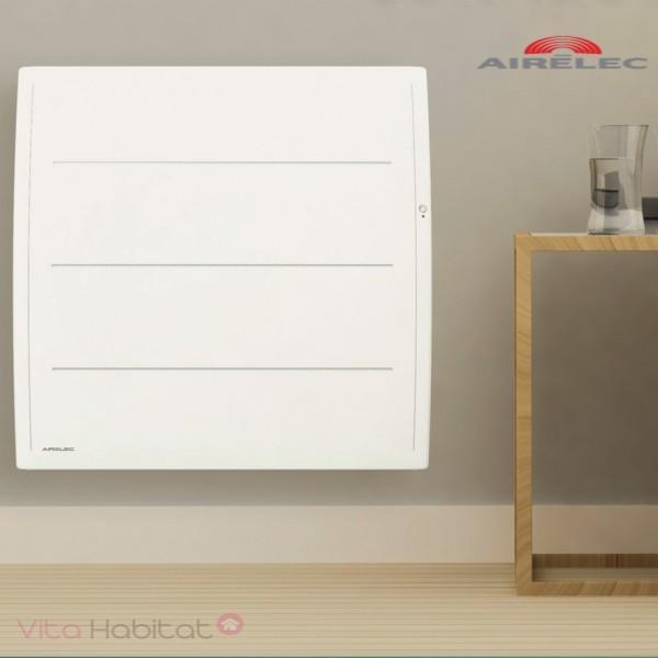 Radiateur Fonte Airelec Adeos Smart Ecocontrol 1500w Horizontal Blanc A693605 Vita Habitat