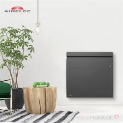 Radiateur Fonte AIRELEC - INOVA 2 Smart ECOControl 1500W Horizontal Gris Anthracite - A693805