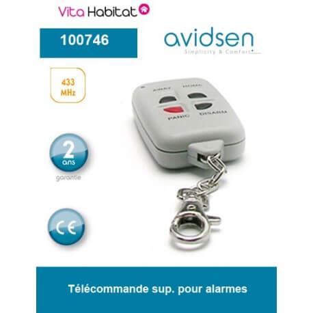 Télécommande supplémentaire pour alarme - Avidsen - 100746