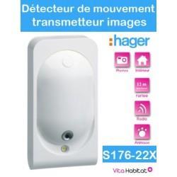 Détecteur de mouvement - LS radio - Spécial Animaux - Transmetteur Images - S176-22X - Logisty Hager