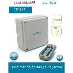 Commande d'éclairage de jardin - 2 canaux - Avidsen - 104254
