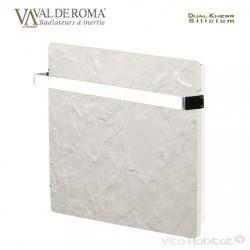 Sèche-serviettes TOUCH SILICIUM Ardoise Blanche 800W Carré - VALDEROMA AB08BST