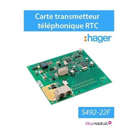 Carte transmetteur téléphonique LS, RTC - Hager logisty - S492-22F
