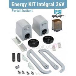 Energy Kit Intégral 24V FAAC (391) Motorisation portail 2 battants - 104575144