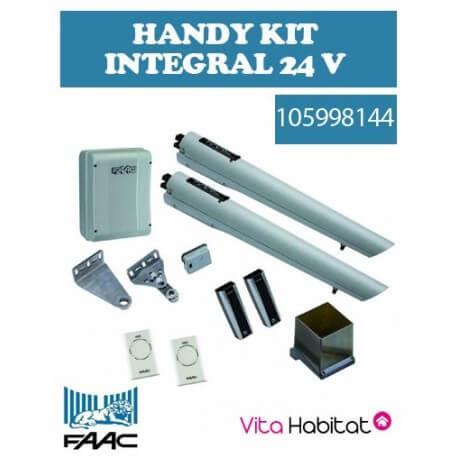 Handy Kit Intégral 24V FAAC Motorisation portail 2 battants (S418)  - 105998144