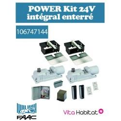 Motorisation portail FAAC POWER Kit 24V intégral - Motorisation enterrée - 106747144