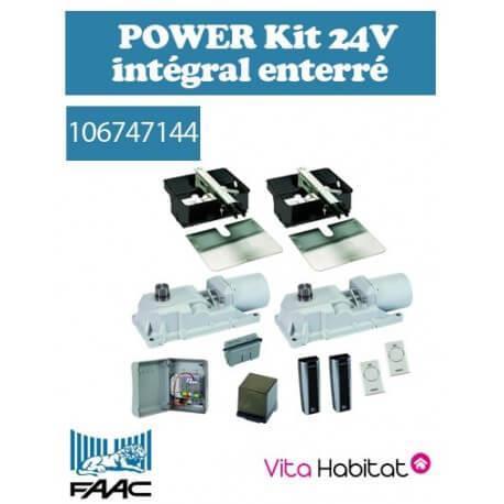 Motorisation portail FAAC POWER Kit 24V intégral - Motorisation enterrée - 106747144