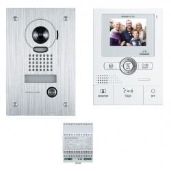 Kit portier vidéo AIPHONE JKS1ADF - Ecran LCD 3,5'' - Grand angle 170 degré - Platine Encastrée - 2 fils -130202