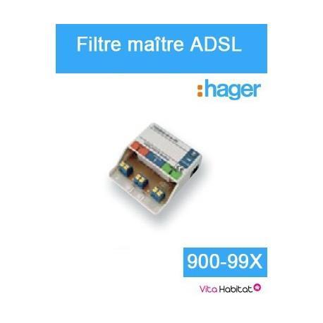 Filtre maître ADSL - Hager logisty - 900-99X