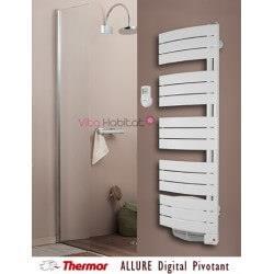 Radiateur sèche serviette THERMOR  ALLURE Digital Pivotant droite ou gauche - 3CS - avec Soufflerie