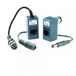 Kit transm 80m rj45 1ch alim & video - URMET 1092/301