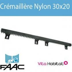 Crémaillère Nylon FAAC 30x20 (4 attaches) - 719309001
