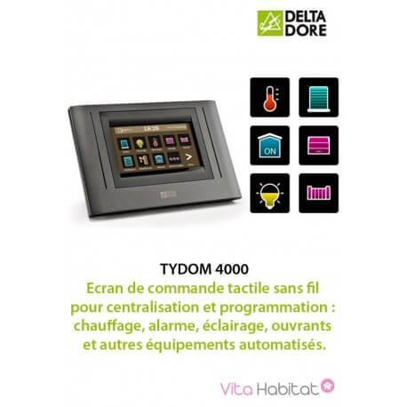 TYDOM 4000 Ecran de commande tactile sans fil pour centralisation et programmation - DELTADORE 6700070