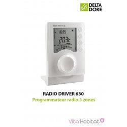 RADIO DRIVER 630 - Programmateur radio 3 zones - DeltaDore 6051119