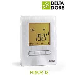 Delta Dore - MINOR 12 : Thermostat digital semi-encastré pour plancher ou plafond rayonnant électrique - 6151055