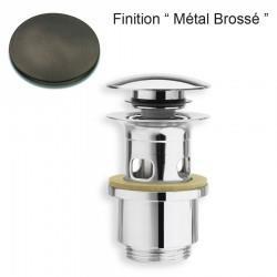 BONDE UP&DOWN NF LAVABO AVEC TROP PLEIN 25-49 mm METAL BROSSE - CRISTINA ONDYNA BUP0477