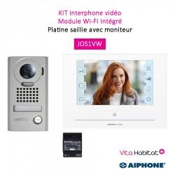 """Kit portier Vidéo AIPHONE - Platine saillie - écran 7"""" - module Wi-Fi intégré -  JOS1VW 130413"""
