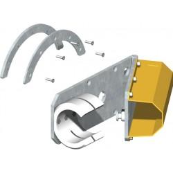 Etrier pour lisse dégondable avec chute de la lisse à l'ouverture totale CAME G028011
