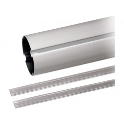 Lisse à section tubulaire en aluminium peint blanc, avec profilé. Longueur=5,35m CAME G05350