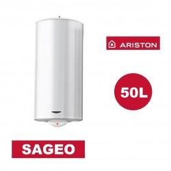 Chauffe-eau électrique vertical mural Sagéo 50 l - Ø 470 mm - ARISTON 3200834