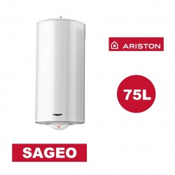 Chauffe-eau électrique vertical mural Sagéo 75 l -   Ø 470 mm - ARISTON 3200835