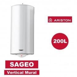 Chauffe-eau électrique vertical mural Sagéo 200 l -   Ø 560 mm - ARISTON 3000334