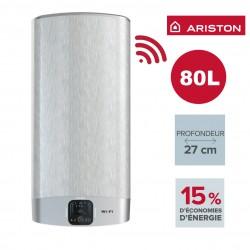 Chauffe-eau électrique mural plat Velis Evo Plus WiFi- 80 l - Prof. 27 cm - ARISTON 3623379