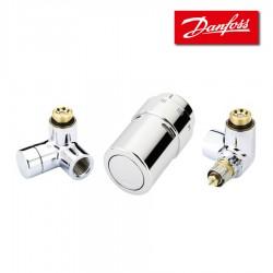 Kit X-TRA droit pour radiateurs ou décors- CHROME - DANFOSS - 013G4003