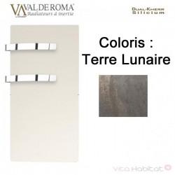 Sèche-serviette rayonnant SLIM 2.0 Terre Lunaire 800W - Valderoma 16800TL