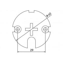 Plaque empreinte croix CAME YM0104