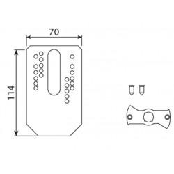Plaque multitrou pour flancs avec cheville CAME YM0115