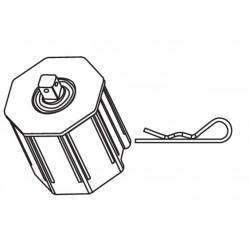 Calotte octogonale 60 pivot Q10 CAME YM0154