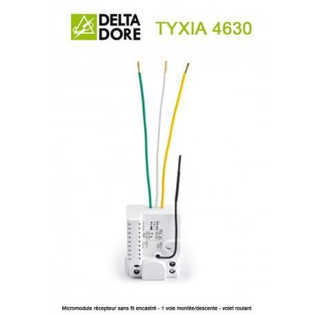TYXIA 4630 - Micromodule récepteur sans fil encastré - 1 voie montée/descente - volet roulant - DeltaDore - 6351102