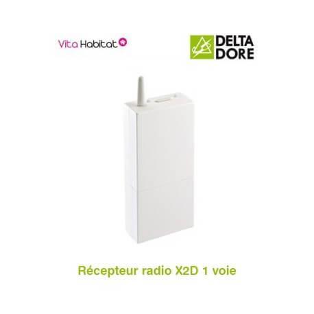 RF 642 Récepteur radio X2D 1 voie - 16A - DeltaDore - 6351037