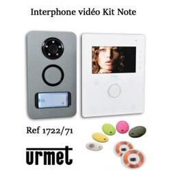 Interphone video URMET KIT NOTE mains libre - Contrôle d'accès - URMET 1722/71
