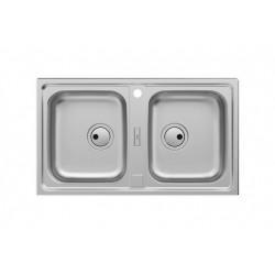 ROCA Siena Evier Inox 2 Bacs 100X50 Cm - A870K20860