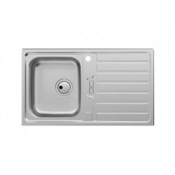 ROCA Siena Evier Inox 1 Bac + Egouttoir 86X50 Cm - A870KC0860