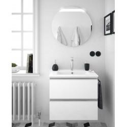 Meuble suspendu SPIRIT 600 blanc brillant 2 tiroirs - SALGAR 26814