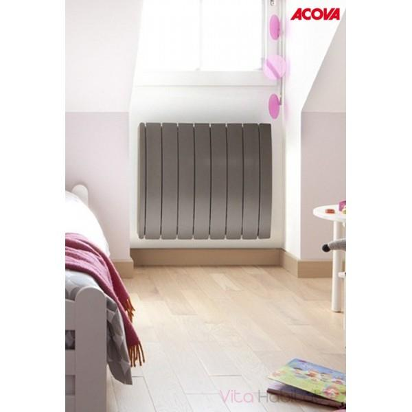 radiateur lectrique acova taiga lcd tak 1000w inertie. Black Bedroom Furniture Sets. Home Design Ideas