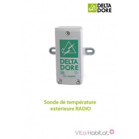 Sonde de température extérieure RADIO - DeltaDore 6300036
