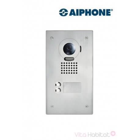 Platine de rue JO2DVF 2 touches pour portier vidéo AIPHONE - encastrée - 130405