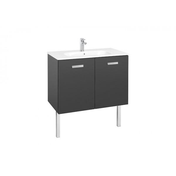 ensemble meuble de salle de bains 2 portes et lavabo 800. Black Bedroom Furniture Sets. Home Design Ideas
