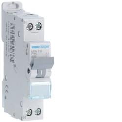 Disjoncteur 1P+N 3kA C25A 1M - DISJONCTEURS PH+N  HAGER MFN725