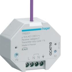 1 Sortie 16A à enc. radioQL - TEBIS  HAGER TRB201