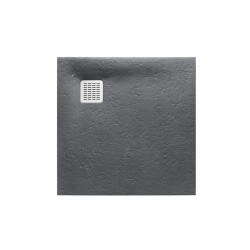 Receveur de douche Terran carre 800X800 en STONEX Gris Ardoise - ROCA AP10332032001200